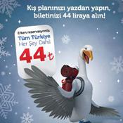 THY'den 44 TL'lik yeni kış kampanyası