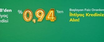 %0,94'ten başlayan faizlerle TEB kredi