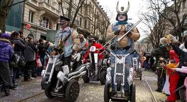 Zürih'te karnaval ve şenlikler