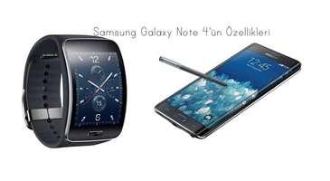 Samsung Galaxy Note 4'ün özellikleri