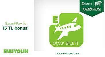 GarantiPay ile Enuygun.com'da 15 TL bonus fırsatı!