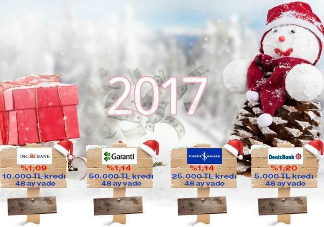 %1,09'dan başlayan Yeni Yıl kredi kampanyaları