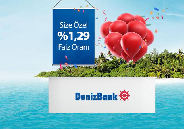 Denizbank'tan %1,29'dan başlayan faizlerle Hoşgeldin Kredisi