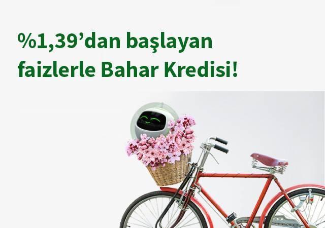 Garanti'den ayda 800 TL'ye 25.000 TL Bahar Kredisi