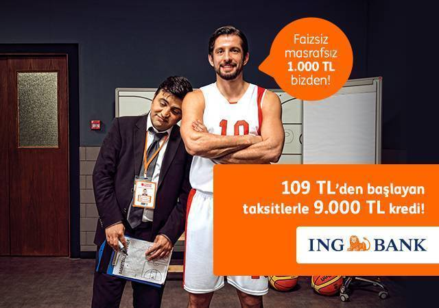 ING'den 109 TL'den başlayan taksitlerle 9.000 TL