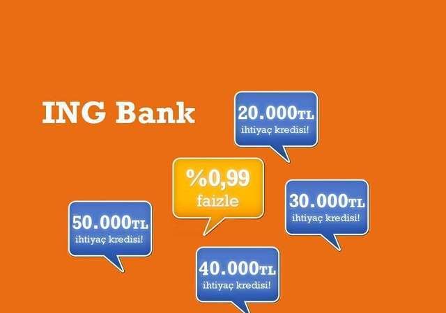 ING'den %0,99 faizli kredi fırsatı