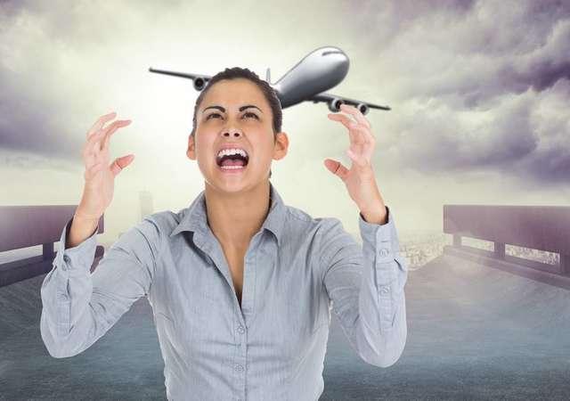 Uçak korkusunu gideren gözlük