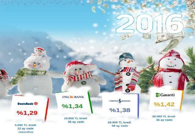 Günde 10 TL'ye 8.000 TL yeni yıl kredileri