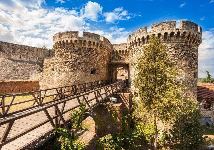 Belgrad Kalesi'nde şehre yukarıdan bakın