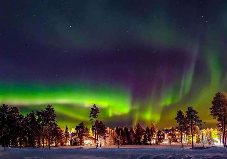 Kuzey ışıkları Lapland
